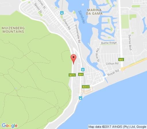 Map Blue Bay View in Muizenberg  False Bay  Cape Town  Western Cape  South Africa