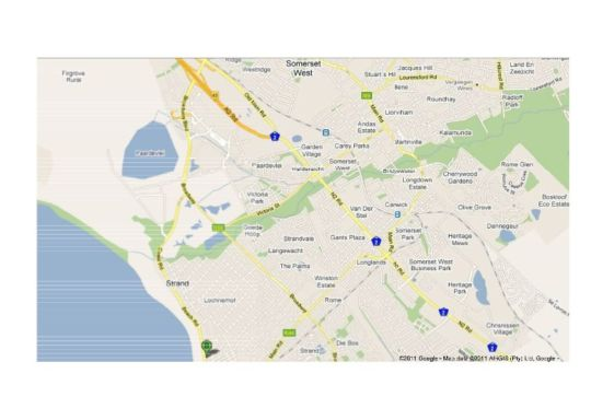 Map Hibernian Towers 313 in Strand  Helderberg  Western Cape  South Africa