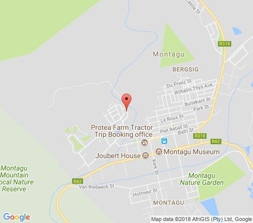 Map Rainbow Glen Guest Cottages in Montagu  Breede River Valley  Western Cape  South Africa