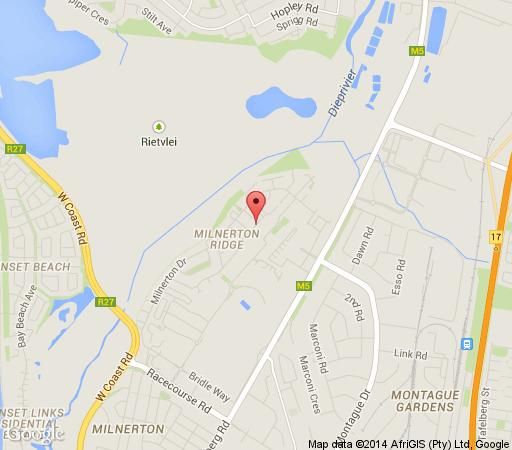 Map Meicopozis Unit 52 in Milnerton  Blaauwberg  Cape Town  Western Cape  South Africa