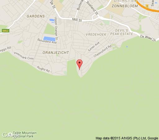Map Serenity Lodge in Vredehoek  City Bowl  Cape Town  Western Cape  South Africa