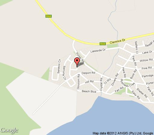 Map Ursinia Lodge in Betty's Bay  Overberg  Western Cape  South Africa