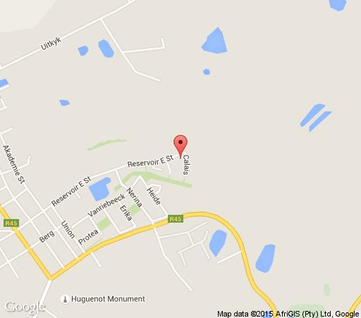 Map Maison d\'Ail Guest House in Franschhoek  Cape Winelands  Western Cape  South Africa