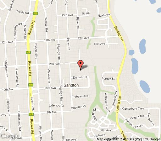 Map Thaxted B&B in Rivonia  Sandton  Johannesburg  Gauteng  South Africa