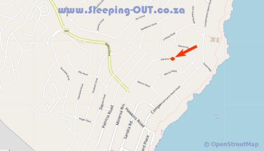 Map Villa Jaimé in Ballito  North Coast (KZN)  KwaZulu Natal  South Africa