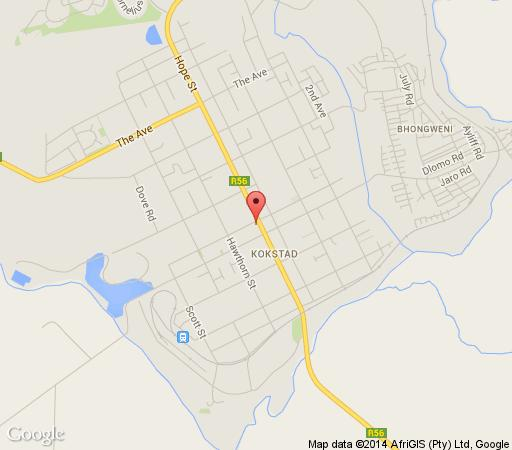 Map Nolangeni Hotel in Kokstad  East Griqualand  KwaZulu Natal  South Africa