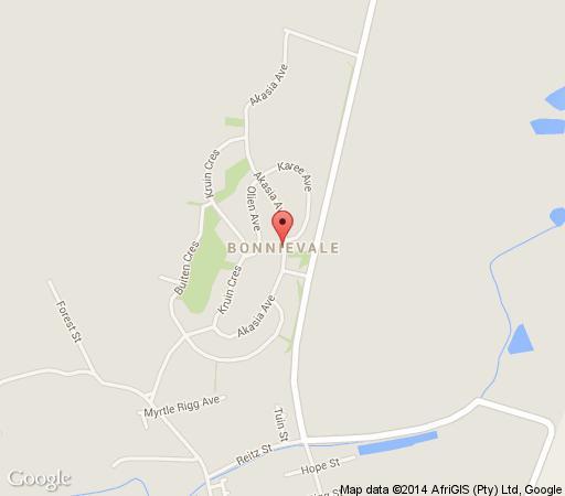 Map Weltevrede Cottages in Bonnievale  Breede River Valley  Western Cape  South Africa