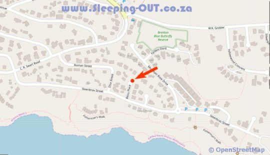Map Blue Dolphin Guest Apartment  in Brenton on Sea  Garden Route  Western Cape  South Africa