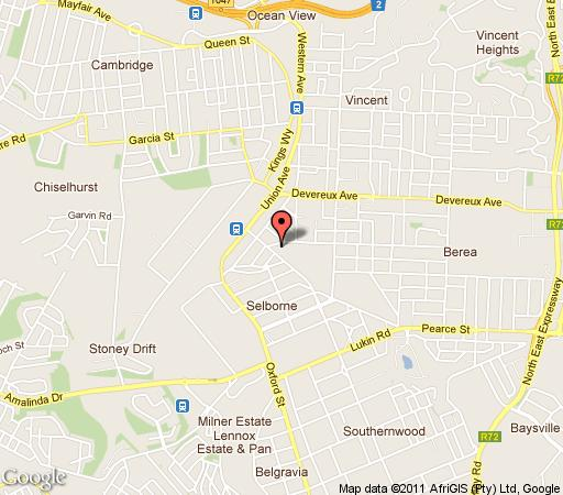Map Parkview Guest Cottage & Lofts in Selborne  East London  Amatole  Eastern Cape  South Africa