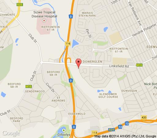 Map Glendower View Guest House in Edenvale  Ekurhuleni (East Rand)  Gauteng  South Africa