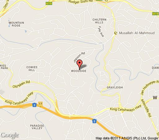 Map Maple Tree Manor in Cowies Hill  Western Suburbs (DBN)  Durban and Surrounds  KwaZulu Natal  South Africa