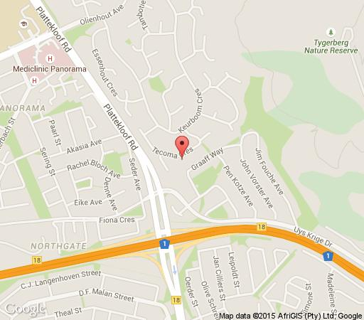 Map Heather Heights in Plattekloof  Northern Suburbs (CPT)  Cape Town  Western Cape  South Africa