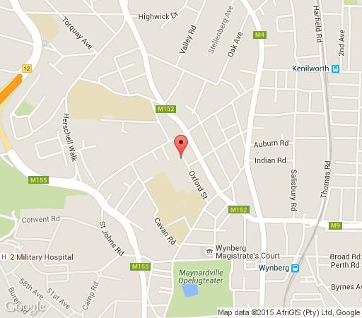Map Oxford Cottage in Wynberg  Southern Suburbs (CPT)  Cape Town  Western Cape  South Africa