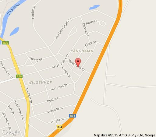 Map Helenas guesthouse in Kroonstad  Fezile Dabi (Northern Free State)  Free State  South Africa