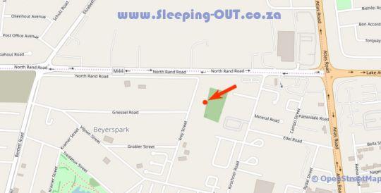 Map 24 On Vrey Guest House in Boksburg  Ekurhuleni (East Rand)  Gauteng  South Africa