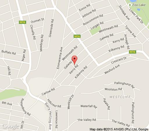 Map The Corner House in Parkview  Northcliff/Rosebank  Johannesburg  Gauteng  South Africa