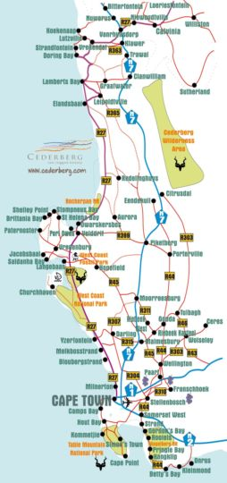 Map ThornBay Accommodation in Doringbaai  West Coast (WC)  Western Cape  South Africa