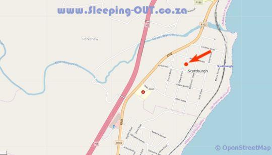 Map Dunns Haven in Scottburgh  South Coast (KZN)  KwaZulu Natal  South Africa