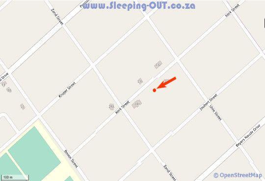 Map Aardvark Guest house in Rustenburg  Bojanala  North West  South Africa