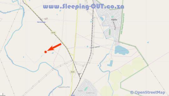 Map Chrislin African Lodge in Addo  Cacadu (Sarah Baartman)  Eastern Cape  South Africa
