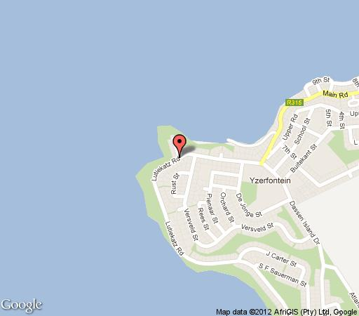 Map Harbour View Guest House in Yzerfontein  West Coast (WC)  Western Cape  South Africa