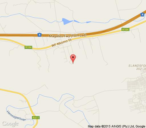 Map Pearl of Beauty Lodge in Pretoria West  Pretoria / Tshwane  Gauteng  South Africa