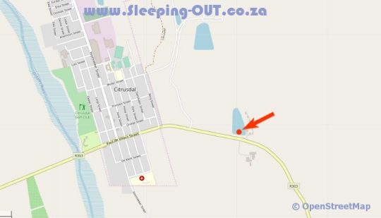 Map Bydidam Resort in Citrusdal  West Coast (WC)  Western Cape  Suid-Afrika