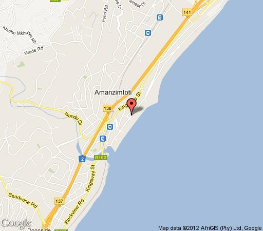 Map Amanzi 905 in Amanzimtoti  South Coast (KZN)  KwaZulu Natal  South Africa