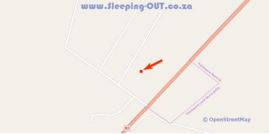 Map Sheilas Accommodation in Polokwane  Capricorn  Limpopo  South Africa