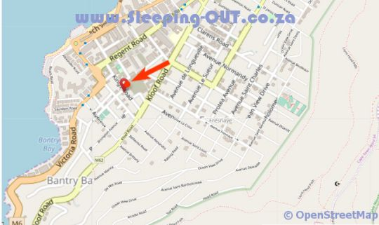 Map Villa Sunshine Guest House in Bantry Bay  Atlantic Seaboard  Cape Town  Western Cape  South Africa