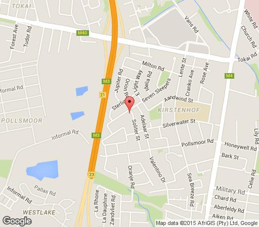 Map Sevensleepers Self Catering Apartment in Kirstenhof  Southern Suburbs (CPT)  Cape Town  Western Cape  South Africa