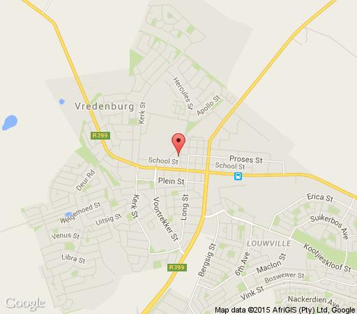 Map Nina\'s Guesthouse in Vredenburg  West Coast (WC)  Western Cape  South Africa
