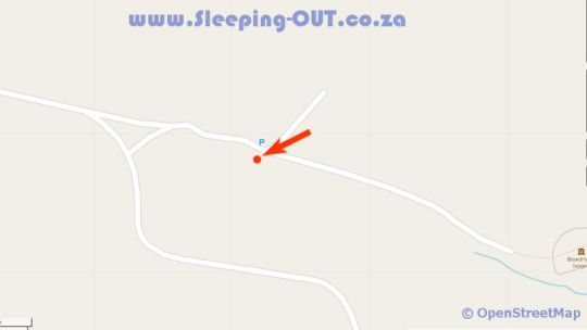 Map Blood River Outspan Lodge in Dundee  Battlefields  KwaZulu Natal  Südafrika