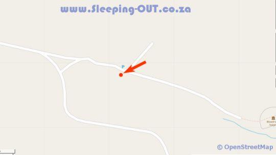 Map Blood River Caravaanpark in Dundee  Battlefields  KwaZulu Natal  Zuid-Afrika