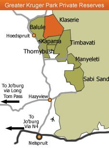 Map nDzuti Safari Camp in Hoedspruit  Valley of the Olifants  Limpopo  South Africa