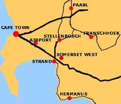Map Groenewald Accommodation in Strand  Helderberg  Western Cape  South Africa