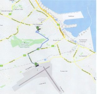 Map Lily Pond Backpackers in Port Elizabeth Central  Port Elizabeth  Cacadu (Sarah Baartman)  Eastern Cape  South Africa