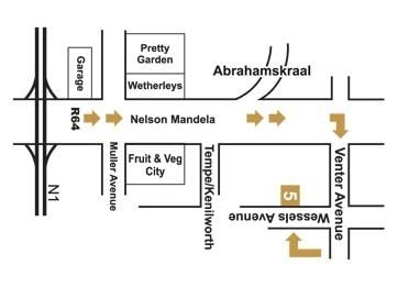 Map Marrakech Guest House in Bloemfontein  Mangaung  Free State  South Africa