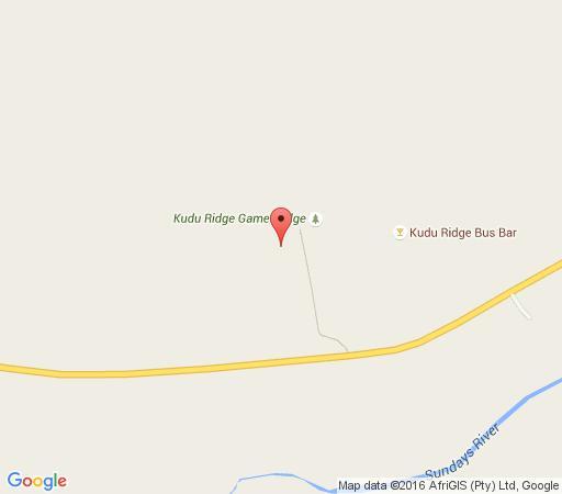 Map Kudu Ridge Game Ranch in Addo  Cacadu (Sarah Baartman)  Eastern Cape  South Africa