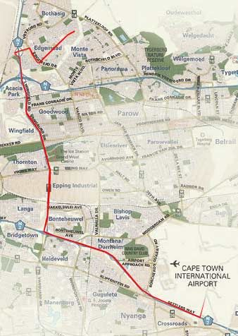 Map Nat-Art  Accommodation in Edgemead  Northern Suburbs (CPT)  Cape Town  Western Cape  South Africa