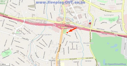 Map The Syrene Boutique Hotel in Rivonia  Sandton  Johannesburg  Gauteng  South Africa
