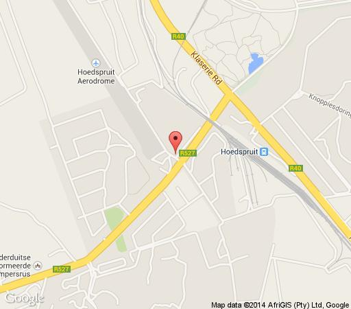 Map Hoedspruit Hotel(fort coepieba) in Hoedspruit  Valley of the Olifants  Limpopo  South Africa