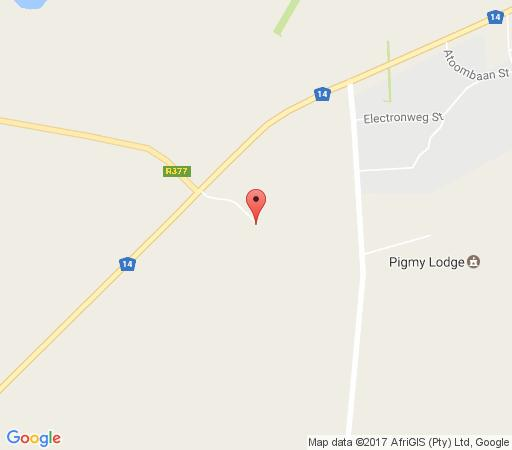 Map Pigmy lodge in Delareyville  Central (NW)  North West  South Africa