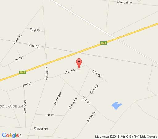 Map Ikhamanzi B&B in Vereeniging  Sedibeng District  Gauteng  South Africa