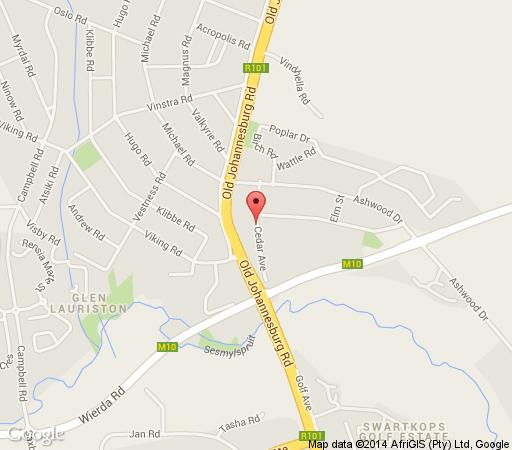 Map The Cedars Bed and Breakfast in Clubview  Centurion  Pretoria / Tshwane  Gauteng  Afrique du Sud