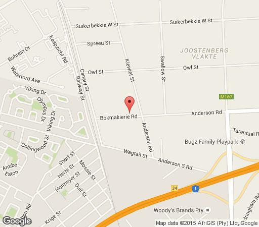 Map Fat Pony Backpackers & Riding Centre in Joostenbergvlakte  Northern Suburbs (CPT)  Cape Town  Western Cape  South Africa