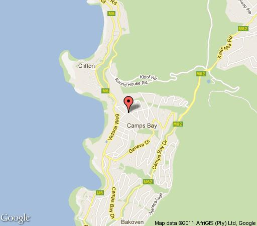 Map Summer Place in Camps Bay  Atlantic Seaboard  Cape Town  Western Cape  South Africa