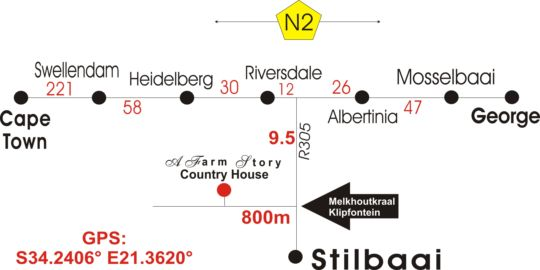 Map A Farm Story Country House in Stilbaai  Garden Route  Western Cape  South Africa