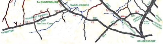 Map Woodland Gardens in Magaliesburg  West Rand  Gauteng  South Africa