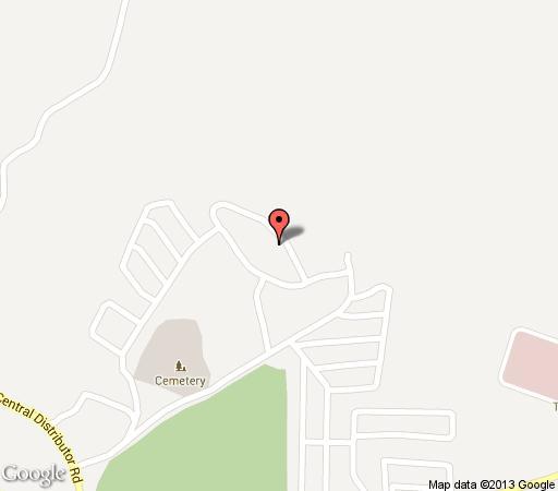Map Global Village in Manzini (City)  Manzini (Region)  Swaziland